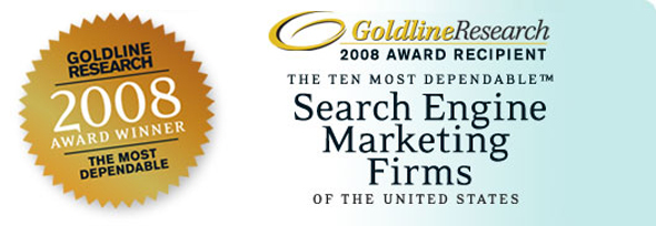 DDA named as One of the Ten Most Dependable Search Engine Marketing Firms in the U.S. by Goldline Research.